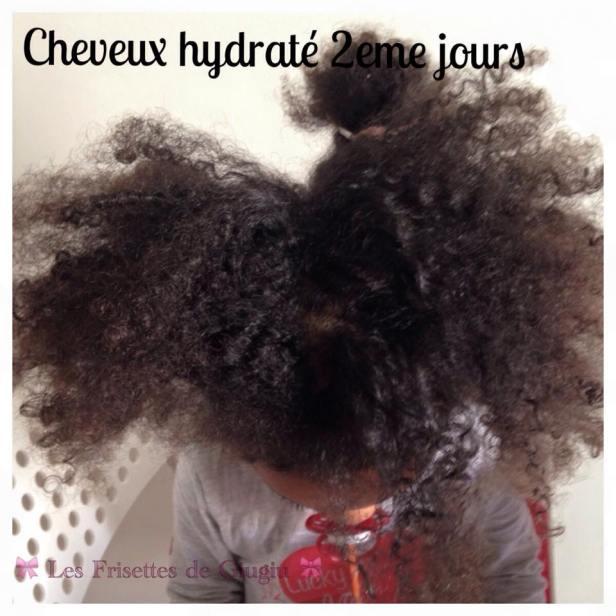 Des cheveux hydratés au 2eme jours