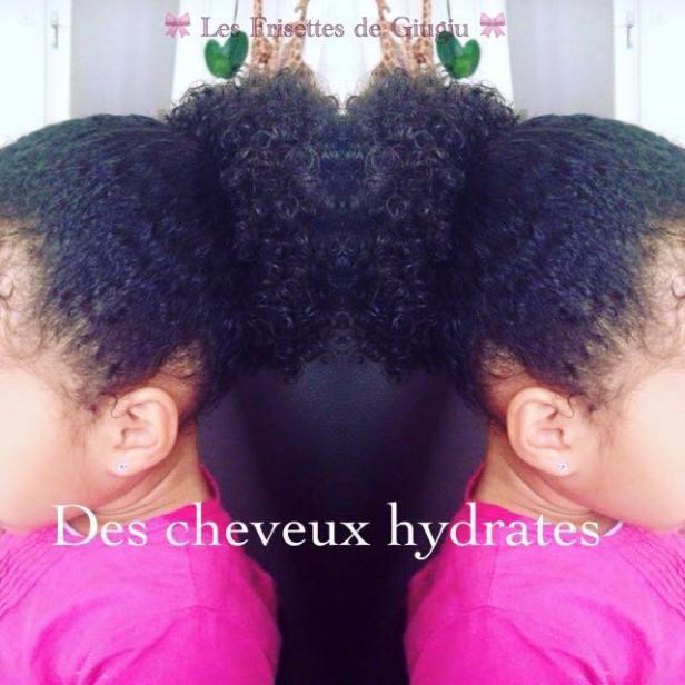 Des cheveux hydratés