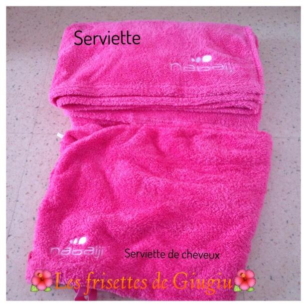 la serviette et le turban microfibre