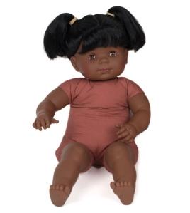 poupée bébé nu pluminis 60cm africain avec des cheveux