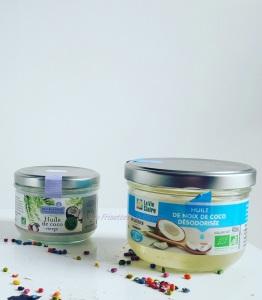 L'huile de coco avec et sans odeur