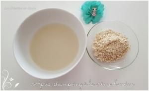 Recette de l'apres -shampoing avec du flocon d avoine