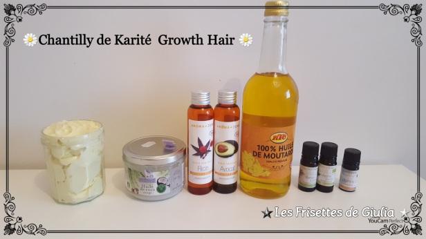 DIY Chantilly de karité spécial pousse de cheveux